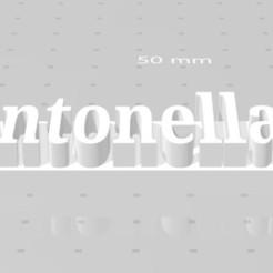 Download free STL files Antonella Marcador, sebastianperaltaangel