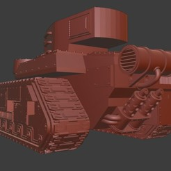 Ragnarok.jpg Download free STL file Ragnarok Battle Tank • 3D printing design, ZeDarkPenguin