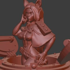 Commander.jpg Download free STL file Nyokan Tank Commander • Model to 3D print, ZeDarkPenguin
