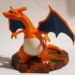 Download free 3D print files Charizard Statue with Stand, cardboardtubeninja