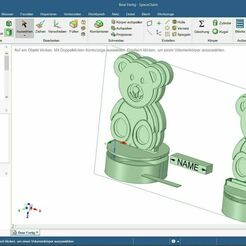 Tedybear2.JPG Download free STL file Teddy Bear Led Night Lamp for Kid´s • Design to 3D print, DohDoh_AUT