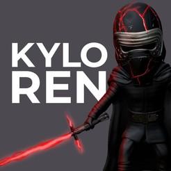 1 - 75.jpg Download STL file Kylo Ren • 3D print model, eliasgraphicd