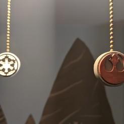 Fan Pulls.jpg Télécharger fichier STL Le ventilateur de plafond de Star Wars tire • Design pour imprimante 3D, KeiranSolaris