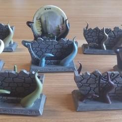 Impresiones 3D Portafolios de la Puerta del Horror de Arkham, KeiranSolaris