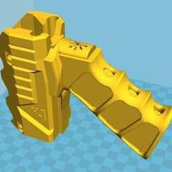One-piece_Caliburn_Foregrip.jpg Télécharger fichier STL gratuit Caliburn Foregrip en une seule pièce • Modèle à imprimer en 3D, Freebird285