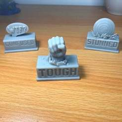 Marvel Token Image.jpg Download STL file Marvel Champions LCG Custom Status Tokens Set • 3D printable object, Freebird285