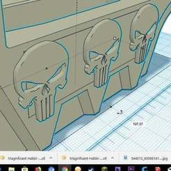 Punisher.jpg Download free STL file Punisher_Emblem_Caliburn_Magwell • Template to 3D print, Freebird285