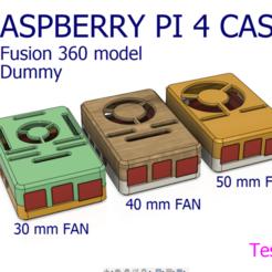 img-2020-01-02-23-13-24.png Télécharger fichier STL Boîtier Pi 4 B framboise avec ventilateur 30 mm 40 mm 50 mm Fusion 360 Dummy • Modèle imprimable en 3D, olvint