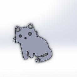 Descargar archivos STL gratis Gato portador de llaves, Crazy_Kamaz