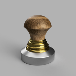 Coffee_Tamper_Combined.png Download free STL file Coffee Tamper - Compactador de cafe • Object to 3D print, GilbertoZhu