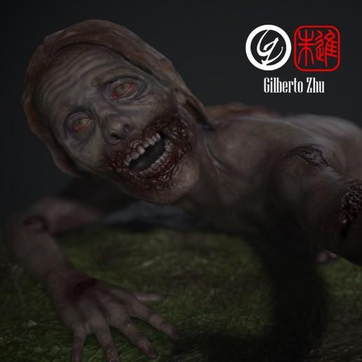 Download 3D model The Walking Dead - Bicycle Girl, GilbertoZhu