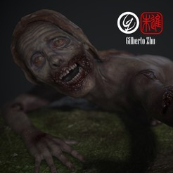 Comp_MMF.jpg Download STL file The Walking Dead - Bicycle Girl • Template to 3D print, GilbertoZhu