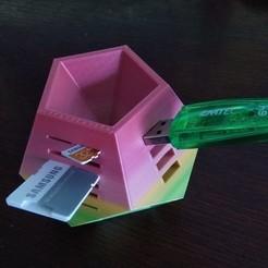 Descargar Modelos 3D para imprimir gratis USB/SD/MicroSD holder, jamitahitajam