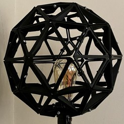 Télécharger fichier STL Abat-jour de la sphère géodésique • Modèle pour imprimante 3D, gadolfob612