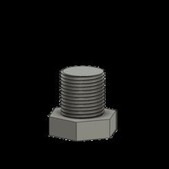 Tige fileté v4.png Download OBJ file Hexagon head screw • 3D printable design, lobasama