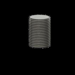 Tige filetée.png Download OBJ file Threaded rod • 3D printable object, lobasama