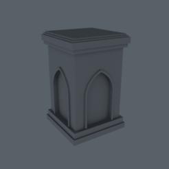 pedestal1.png Download free STL file W40K - base - High pedestal  • Design to 3D print, slawek0538