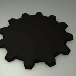 Télécharger objet 3D gratuit Socle de roue dentée pour miniatures, slawek0538