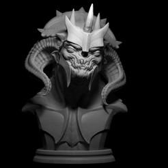 render_demon.jpg Download STL file Demon Bust • 3D print design, Todo