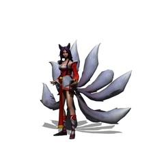 Download free 3D model Ahri LEAGUE OF LEGENDS, brianmorossj3