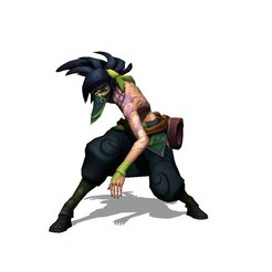 Descargar modelo 3D gratis AKALI LEAGUE OF LEGENDS, brianmorossj3