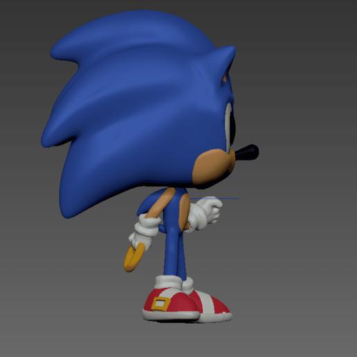 derecha.png Download free OBJ file Sonic Funko Pop • 3D print template, Arthurjdb