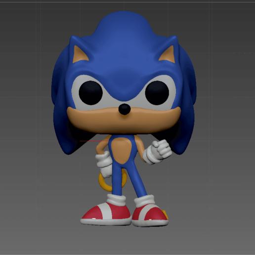 frontal.png Download free OBJ file Sonic Funko Pop • 3D print template, Arthurjdb