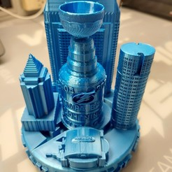 COC 6in.jpg Download STL file City of Champions-Tampa Bay Lightning • 3D print model, motoole121
