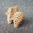 Télécharger fichier STL gratuit Eléphant - Style Voronoi • Modèle imprimable en 3D, morpheusaurelien