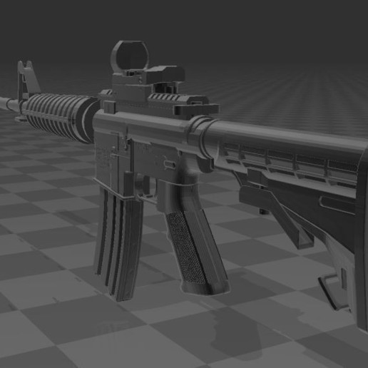 M4A1-4.JPG Télécharger fichier 3MF gratuit M4A1 CARBINE • Design à imprimer en 3D, Wij