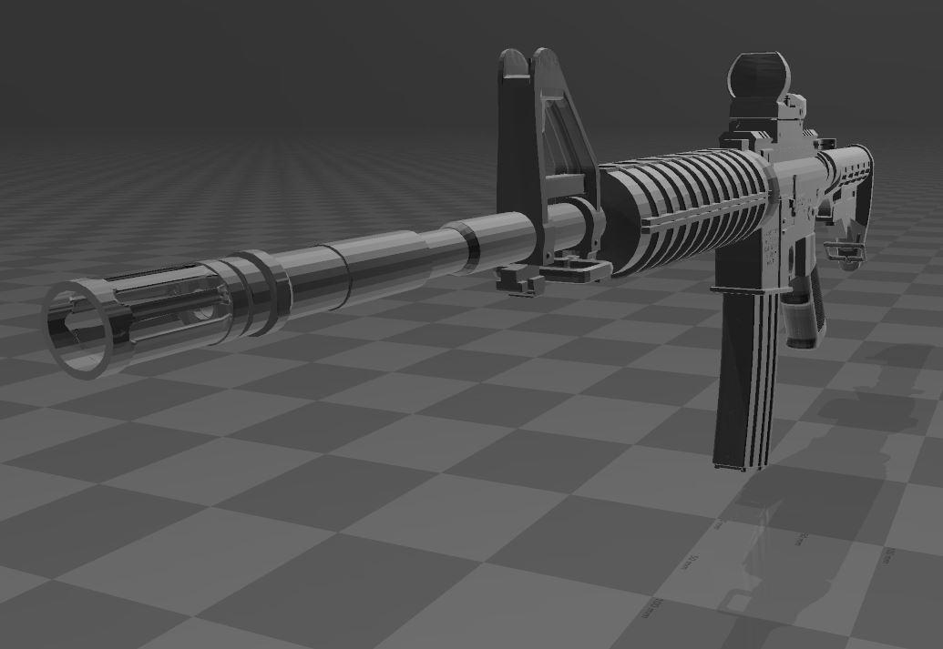 M4A1-1.JPG Télécharger fichier 3MF gratuit M4A1 CARBINE • Design à imprimer en 3D, Wij