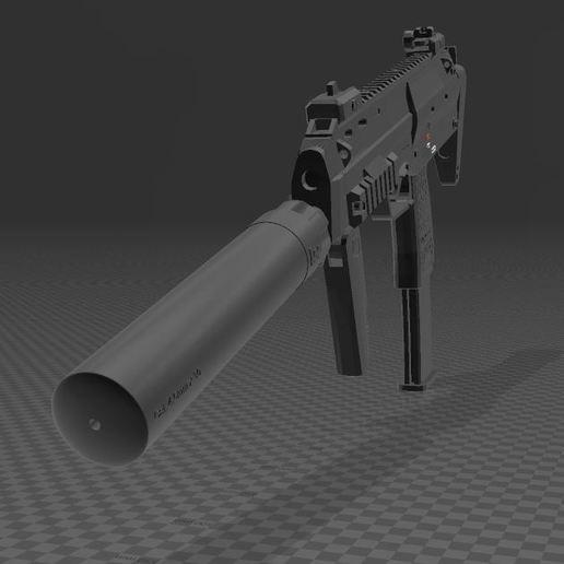 Download free 3MF file Heckler & Koch mp7 A1 • 3D printing design, Wij