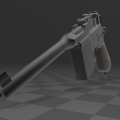 Download free 3MF file Mauser C96 • 3D printer template, Wij