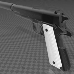 Download free 3D printer templates Colt M1911 with suppressor, Wij