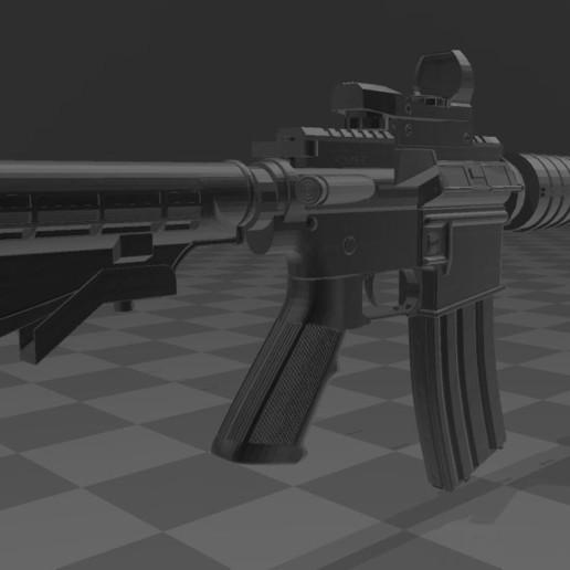 M4A1-3.JPG Télécharger fichier 3MF gratuit M4A1 CARBINE • Design à imprimer en 3D, Wij