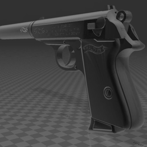 Walther-PPK-5.JPG Download free 3MF file Walther PPk with suppressor • 3D print model, Wij