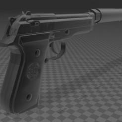 Download free STL file Beretta FS92 with suppressor, Wij