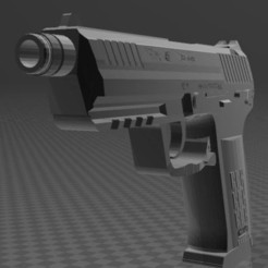 Download free 3D model Heckler Koch 45, Wij