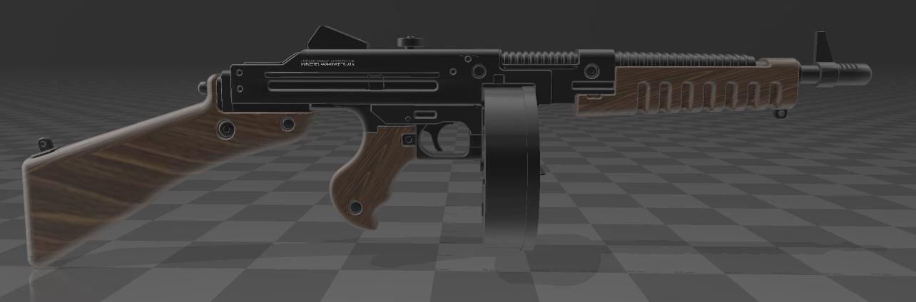 THOMPSON-GUN-5.JPG Télécharger fichier 3MF gratuit Pistolet Thompson avec tambour • Design pour imprimante 3D, Wij