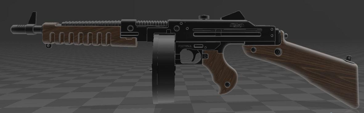 THOMPSON-GUN-1.JPG Télécharger fichier 3MF gratuit Pistolet Thompson avec tambour • Design pour imprimante 3D, Wij