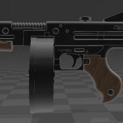Download free 3D printer model Thompson Gun with Drum, Wij