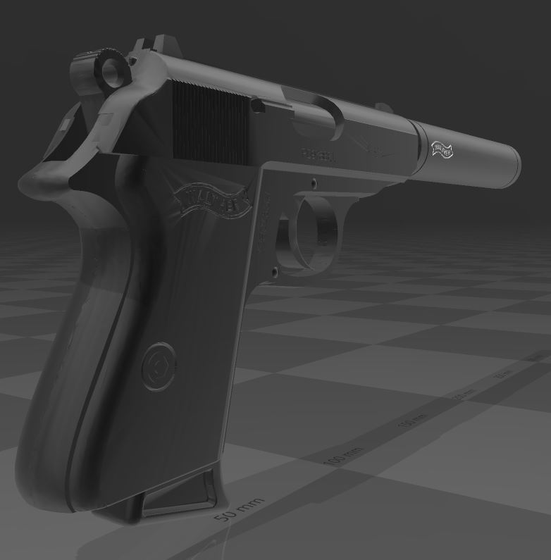 Walther-PPK-4.JPG Download free 3MF file Walther PPk with suppressor • 3D print model, Wij