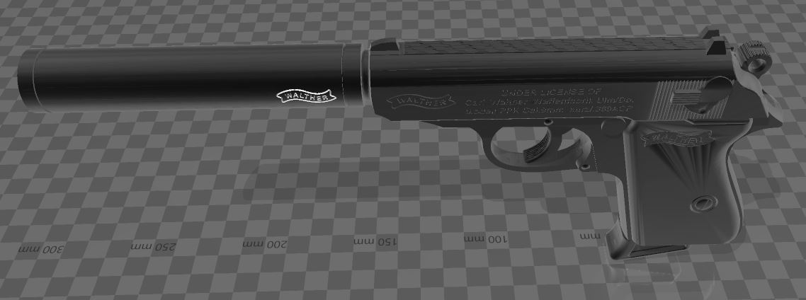 Walther-PPK-6.JPG Download free 3MF file Walther PPk with suppressor • 3D print model, Wij