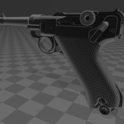 Download free STL files Luger P 08, Wij
