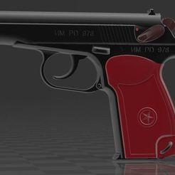 Descargar STL gratis Pistola Makarov, Wij