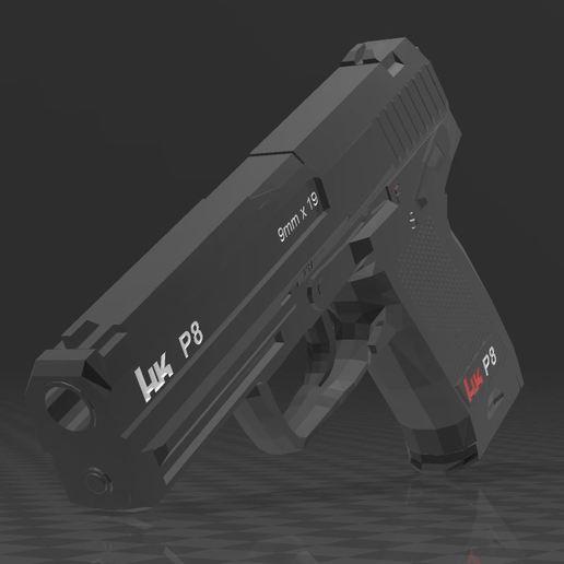 Download free 3MF file HECKLER KOCH P8 • 3D printable model, Wij