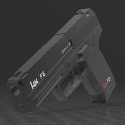 Download free 3MF file HECKLER KOCH P8 • 3D printable model, Wij