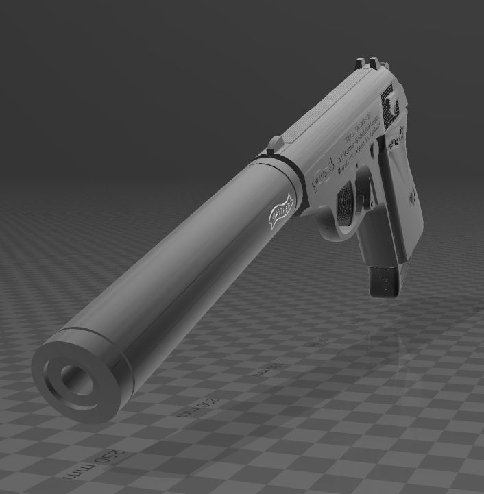 Walther-PPK-1.JPG Download free 3MF file Walther PPk with suppressor • 3D print model, Wij