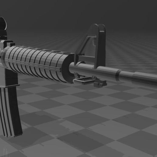 M4A1-2.JPG Télécharger fichier 3MF gratuit M4A1 CARBINE • Design à imprimer en 3D, Wij