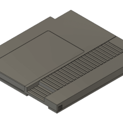 nes top top view.png Download STL file NES cartridge switch game holder • 3D printable template, cpreston924
